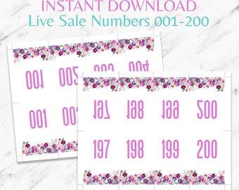 Floral Fashion Retailer Live Sale Numbers|LLR Live Sale|LLR Facebook|LLR Sale Cards|Lula Size Cards|Lula Printable|Lula Business|instant