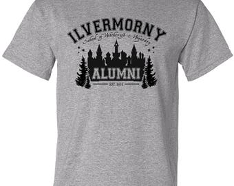 Ilvermorny School of Witchcraft and Wizardry Alumni T-shirt - Harry Potter Tee Christmas Gift Wizarding World Fantastic Beasts Magic Gift