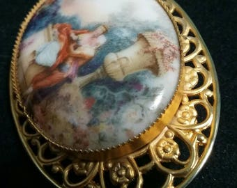 Victorian revival vintage brooch