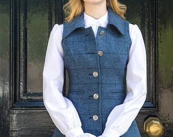 Reiver Waistcoat (Lossie-Blue Tweed)