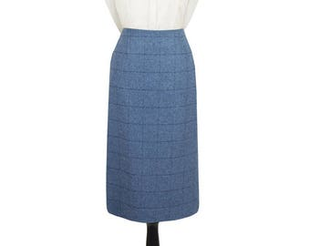 "Tailored Tweed 31"" Skirt (Lossie-Blue Tweed)"