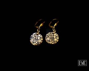 Ormolu stars earrings