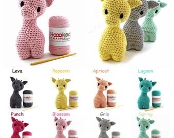 Hoooked DIY Crochet Kit Ziggy Giraffe Amigurumi Eco Barbante Recycled Toy Gift