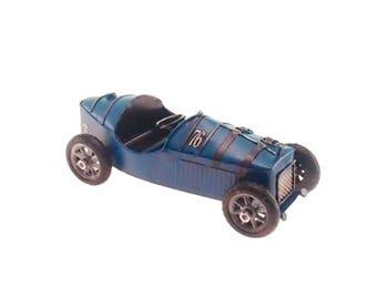Miniature antique racing car