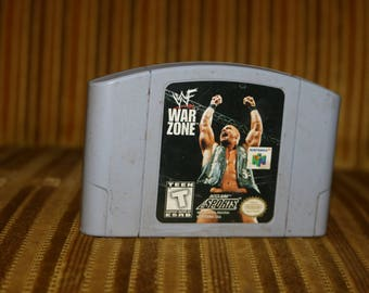 WWF War Zone Video Game N64 for the Nintendo 64 Video Game System WWE Vintage 1990s Wrestlemania
