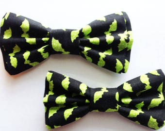 Halloween Bow Ties,Dad and Son Bow Ties, Father Son Bow Tie, Mens Bow Tie, Black, Halloween Bow Tie,Mens Bowtie, Bow Tie, Boys Bow Tie DS718