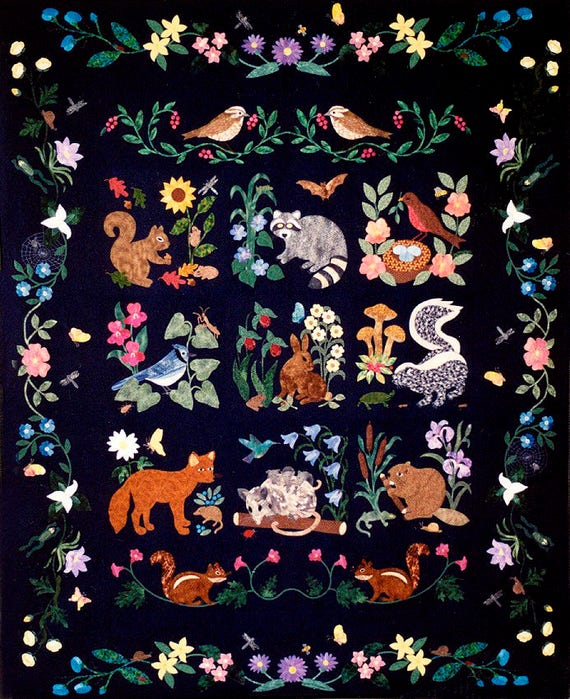 Woodland Creatures Collector Quilt Patterns By Rosemary Makhan