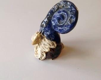 Magician / Wizard Handmade Ocarina / Whistle /Flute - Pottery - Clay