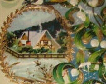 2 Pretty Vintage Christmas Postcards (Birds)
