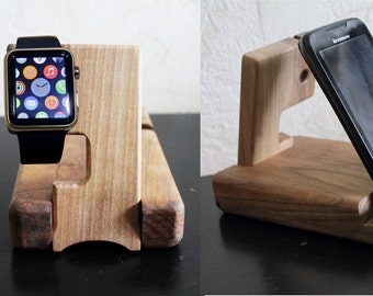 Charging Station wood docking station iPad holder Wooden iPad Stand organizer Phone stand iwatch stand iPhone holder Mens Docking station