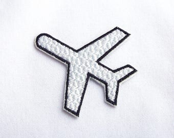 Plane patch Embroidered patch Travel patch Custom patch Name tag Iron on  Name Patch Gift patch Patches for caps Uniform patches EDP049