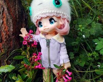 Crochet Helmet For Kikipop Juice Doll, Crochet Hat, Gorro De Ganchillo, Outfit for Kikipop Juice Doll, DarisBleu Handmade Helmet