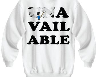 Un/Approachable - YES! - Fun White Party Sweatshirt
