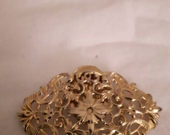 VINTAGE GERMANY Scarf/Shawl Clip - Gold Tones - Victorian Style