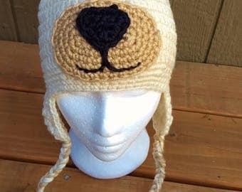 Polar bear hat, bear hat, bear costume,  white bear hat, winter hat, bear crochet hat, halloween costume, christmas gift, boys hat, bear