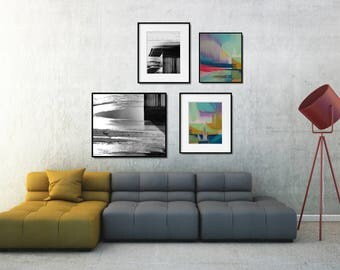 Abstract Wall Decor Set, Large Abstract Art Print Set, Printable Gallery Wall Art, Industrial Decor Style, Modern Industrial Decor, XL Art