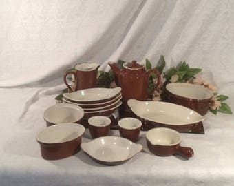 Hall Restaurant Ware Brown