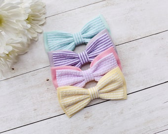 Easter Bow Ties | Spring bow ties, seersucker bow ties, kids photo props, toddler bow tie, pastel bow ties, kids bow ties, newborn bow tie