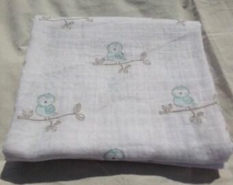 Happy Bluebirds Swaddler Baby Blanket