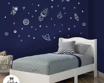 Space Theme Decals - Kids Room / Nursery Decals