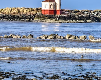 Coquille River Lighthouse, Bandon, Oregon, Landscape Photography, Nature Photography, Fine Art Photography, Wall Art, Home Decor, Gift