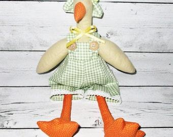 Tilda goose,handmade goose,Animal toy,Easter toy,vintege toy Tilda,Stuffed toy,Christmas toy,Springtime gifts