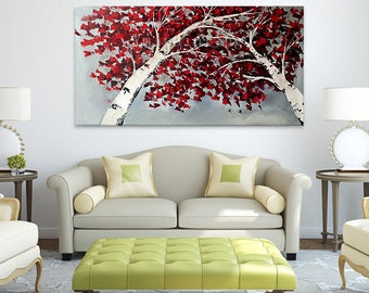 Original Flower Hand Painted palette knife 3D texture Canvas Oil Painting Quadros Wall Art Pictures For Living Room home decor