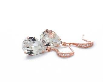 Swarovski crystal earrings, wedding drop earrings, bridal drop earrings, dangle earrings, crystal bridesmaid earrings, Swarovski jewelry