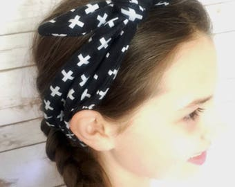 Knit knotted bow headbands, Headbands for women workout, Ladies girls stretch headbands, women's headbands, woman headband