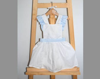 Baby girl - gingham - dress backless dress