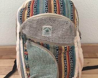Natural Fabric Handmade Hemp School,College,Travel,Laptop Backpack(Free Shipping USA)
