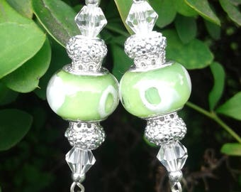 Key Lime Pie Murano Bead Earrings