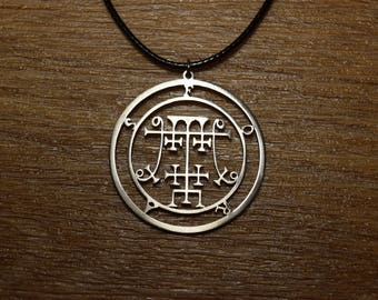 Sceal Sigil of Foras Necklace Satan Necklace Lesser Key demon seal pendant  Goetia necklace Lemegeton Seal Lucifer sigil of demons