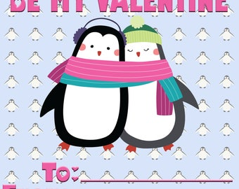Penguin Valentine's Day Card