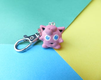 Jigglypuff charm (available as keychain/phone charm)