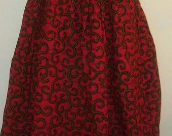 Halter- Neck African Print Maxi dress
