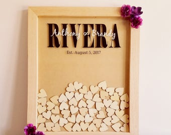 Alternative Wedding Guest Book/Guest Book Drop Box/Heart Drop Box