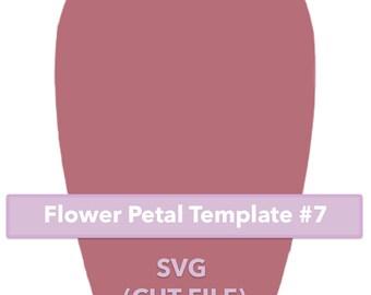 Paper Flower Template #7 SVG file