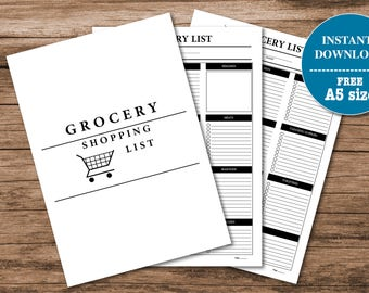 Printable Grocery List I Shopping List