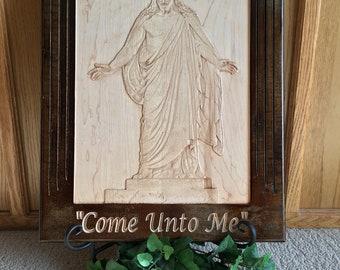 "Jesus Christ ""Christus"" 3 Dimensional Woodcarving - Thorvaldsen's Christus Statue"