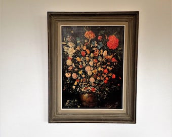 Jan Brueghel - Bouquet - still life flowers - school in North - 17th century - Flanders - oil painting - reproduction