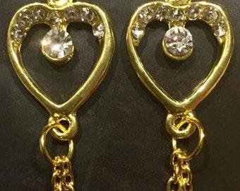 Hearts of Gold Earrings
