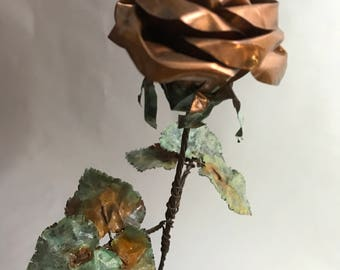 Long Stem Copper Rose