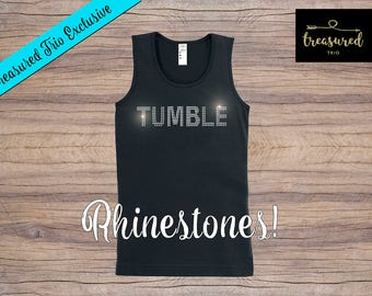 Rhinestone TUMBLE Tank Top