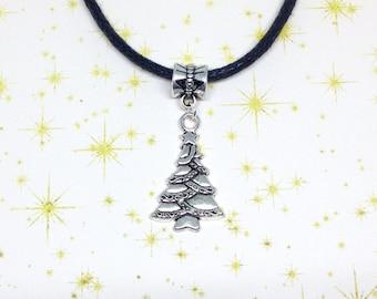Christmas Tree Choker, Festive Choker, Xmas Necklace, Christmas Tree Pendant, Christmas Jewellery, Festive Jewellery, Xmas Pendant