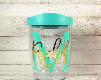 Personalized Wine Tumbler//Monogram Wine Glass//Customized Wine Sippy Cup//Bridesmaid Gift//Birthday Gift//Bridal Party Gift//Gift For Her