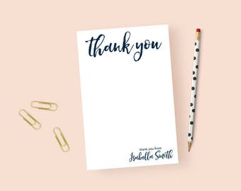 Thank you Notepad Personalized Notepad Thank you, Personalized Thank you Note Pad, Personalized Stationary Notepad, Stationery Pad 5.5 x 8.5