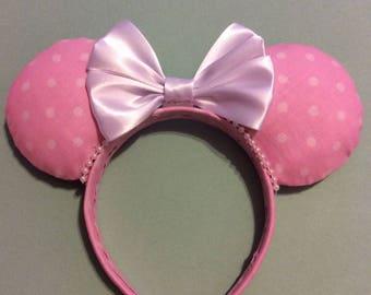 Pink Polka dot Mickey ears