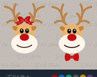 Reindeer svg, rudolph svg, deer svg, Reindeer svg, boy, girl, Svg Files for Silhouette Cameo or Cricut Commercial & Personal Use