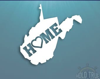 West Virginia Decal - PICK COLOR and SIZE - West Virginia Home Decal - Wv Decal - West Virginia Car Decal - West Virginia